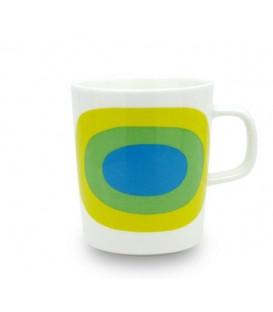 Marimekko Melooni Mug, Bianco Verde e Blu