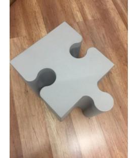 Puzzle1 Pouff Grigio Medio componibile Sixinch
