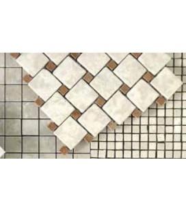 Marble Alternating Step Travertino Chiaro 4,8x4,8 Sicis