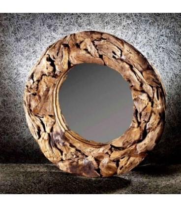 AKAR Specchio Diametro 70 in Teak, Cipi'