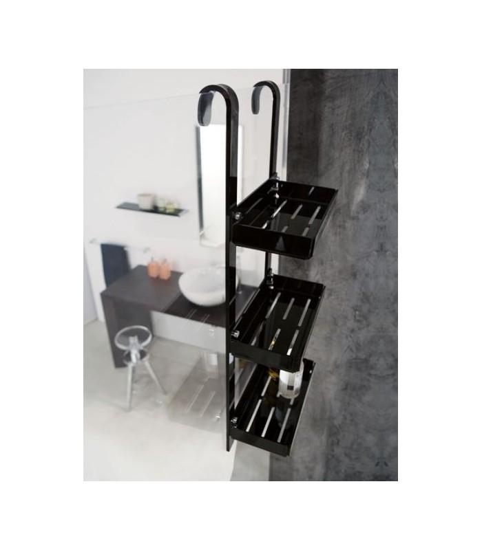 Tl bath porta oggetti da doccia plexigas nero - Accessori bagno plexiglass ...