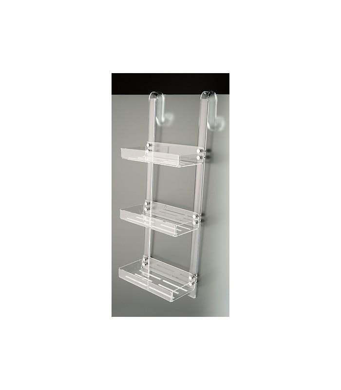 Tl bath porta oggetti da doccia con gancio plexigas - Mensola porta piatti ...