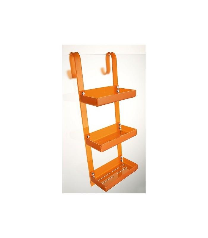 Tl bath porta oggetti da doccia con gancio plexigas arancio for Oggetti arredo bagno