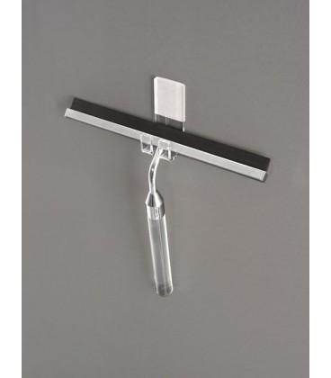 TL Bath asciugavetro in plexiglass e acciaio con gancio da incollo a parete