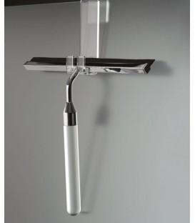 TL Bath asciugavetro in plexiglass e acciaio con gancio da appendere al box doccia