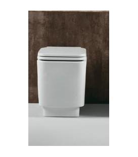 Vaso quadrato Bianco serie Flow