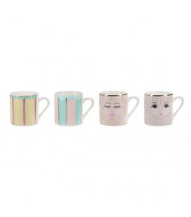 Bubblegum Colors Espresso set di 4 tazze Miss Etoile