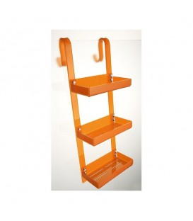 TL Bath porta oggetti piccolo 3 piani Plexigas Arancio